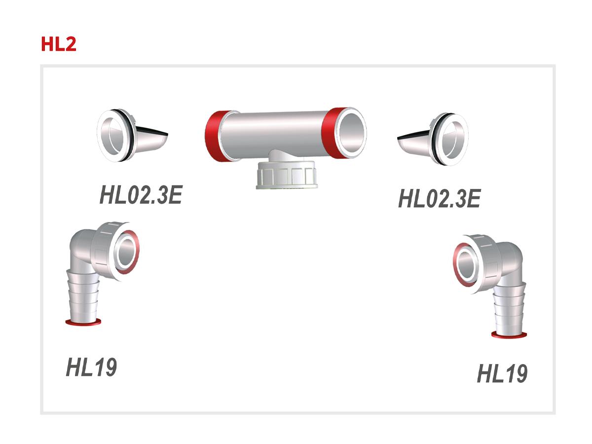 """Подвійне підключення для пральної і посудомийної машини HL2 1"""" х 3/4"""""""