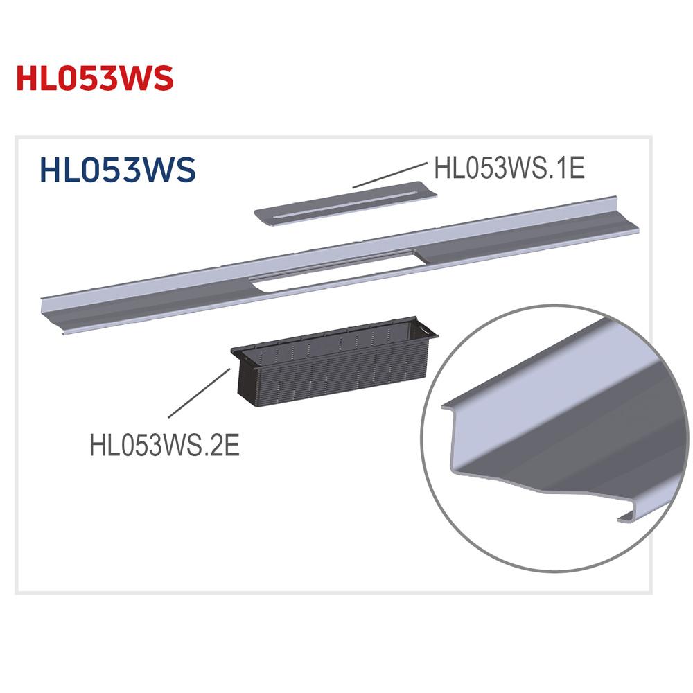 HL053WS Решітка душового лотка InFloor
