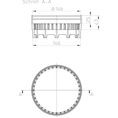 HL150 Дренажне кільце_cхема