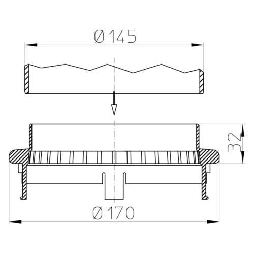 HL160 Дренажне кільце_cхема