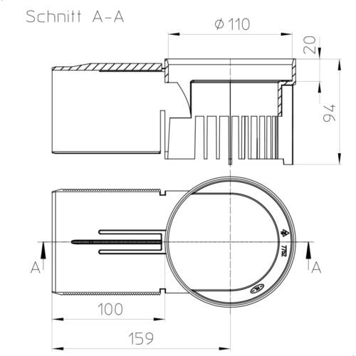 HL163 Дренажний елемент_схема