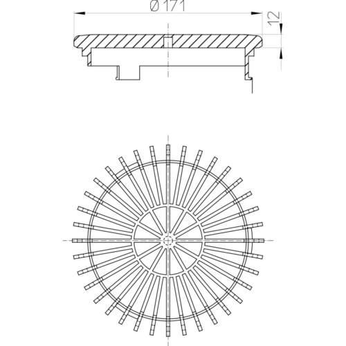 HL170 Решітка-уловлювач листя