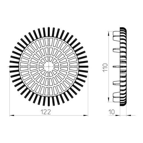 HL181 Решітка-уловлювач листя_cхема