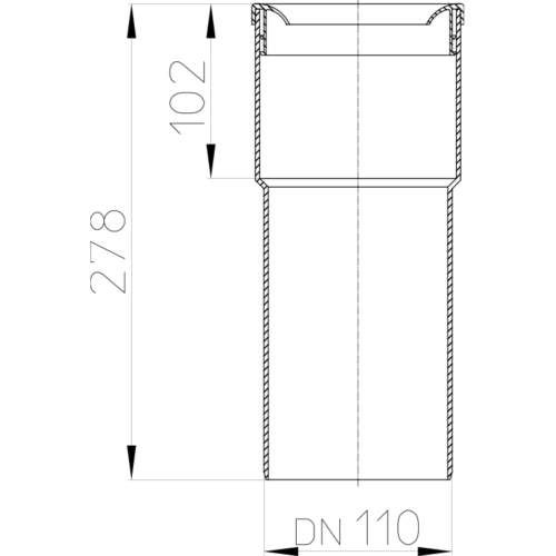 HL202G З'єднувальний прямий патрубок_cхема
