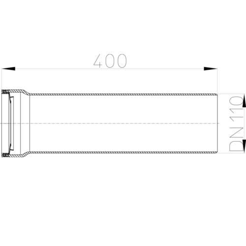 HL203/1 Відвідний штуцер DN110_cхема