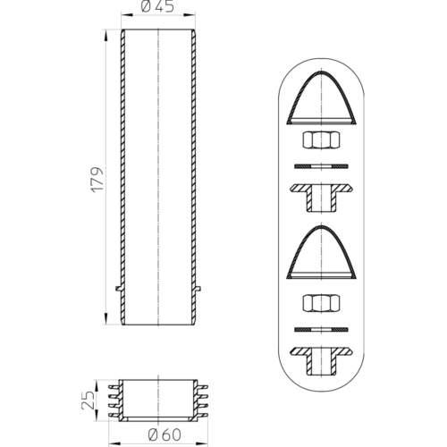HL226 Кріпильний набір для підвісного унітазу_схема