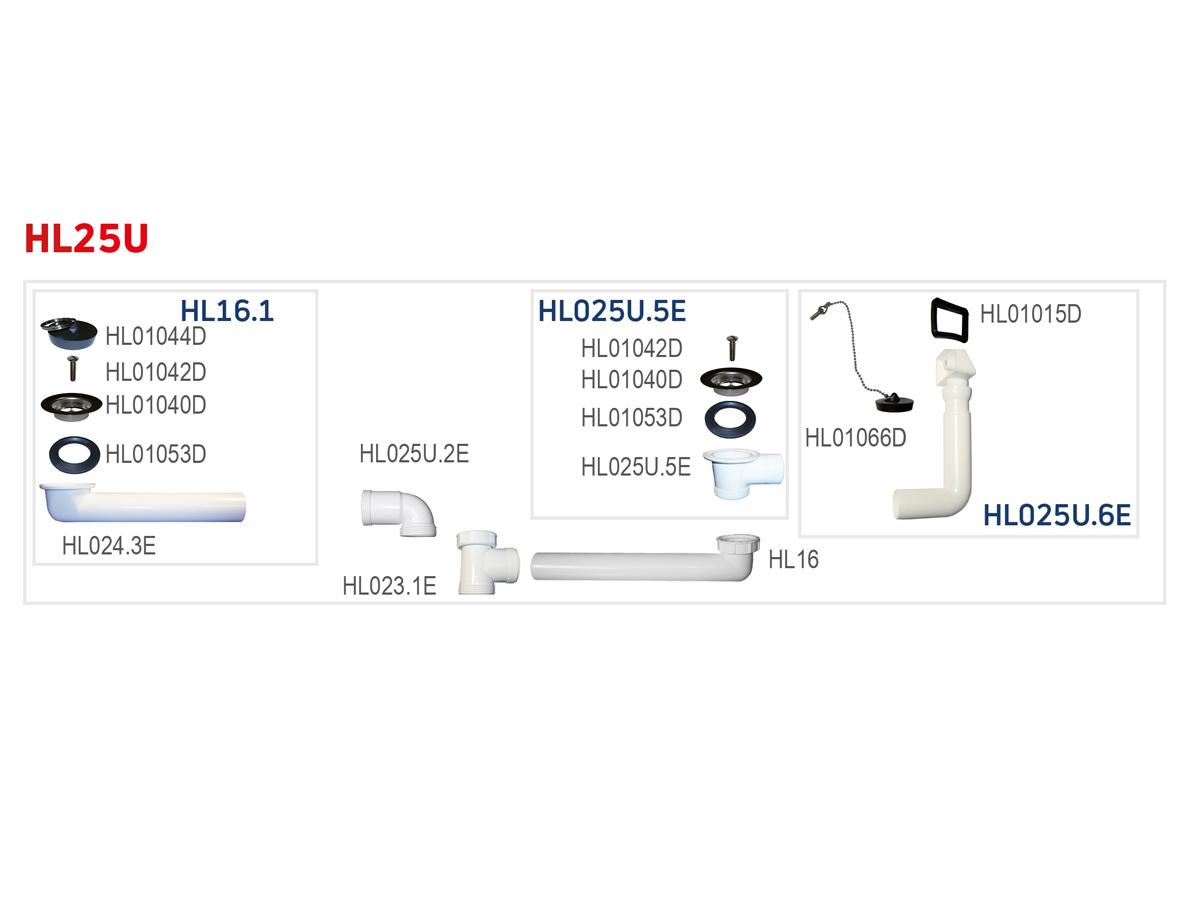 HL25U-6/4 Стічне з'єднання DN40