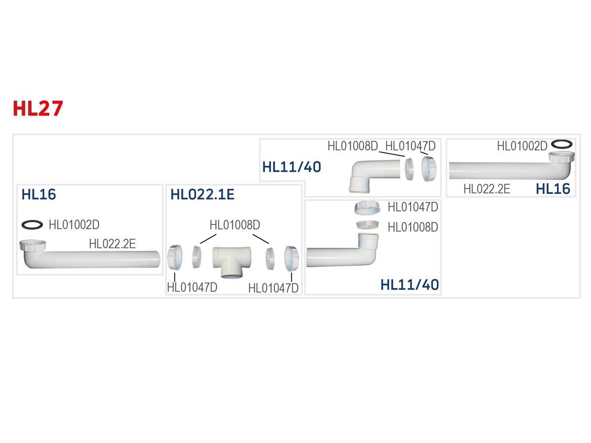 """HL27 Стічне з'єднання DN40 х 6/4"""""""