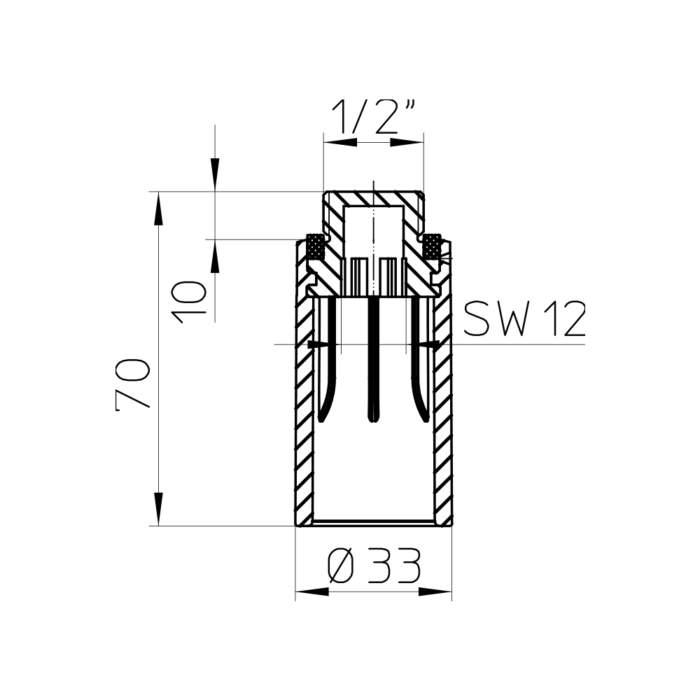 HL42.MS Будівельна пробка-заглушка_схема