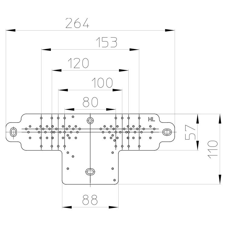 HL44 Монтажна пластина_cхема