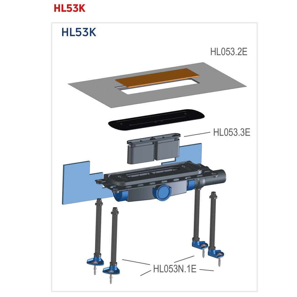 HL53K Корпус душового лотка InFloor