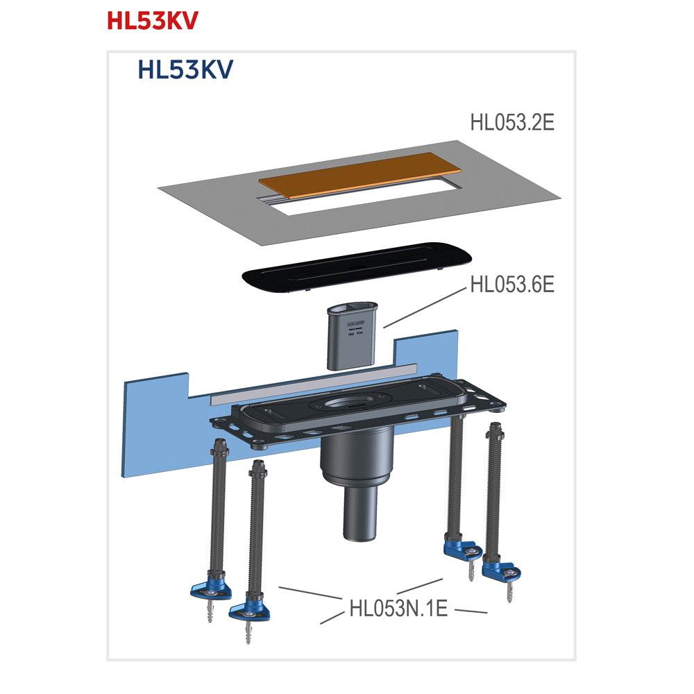 HL53KV Корпус душового лотка InFloor