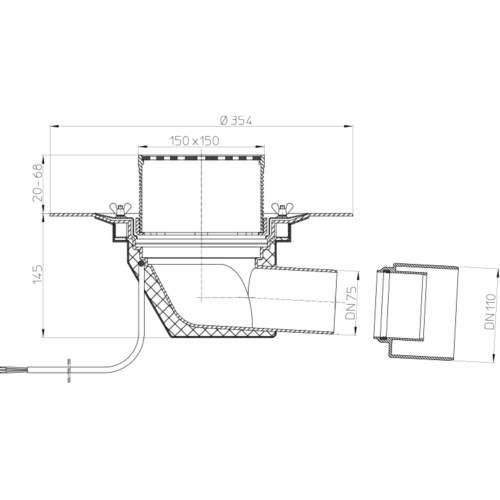 HL64.1B Покрівельна воронка_схема