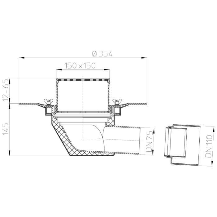 HL64B Покрівельна воронка_схема