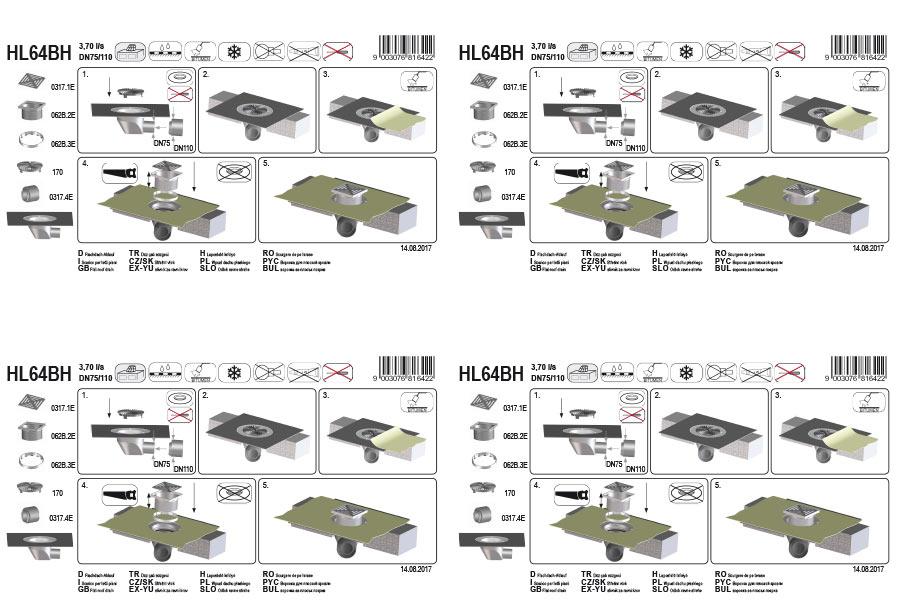 HL64BH Покрівельна воронка