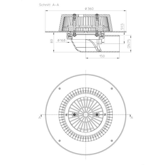 HL64FPower Воронка для водостоку_схема