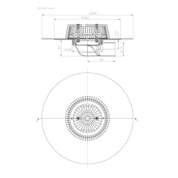 HL64HPower Воронка для водостоку_cхема