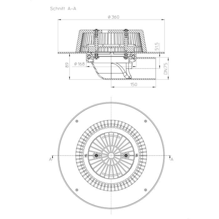 HL64PPower Воронка для водостоку_схема