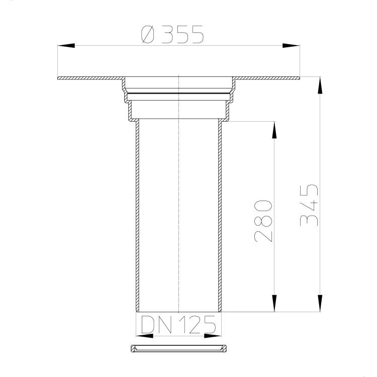 HL65F Надставний елемент_схема