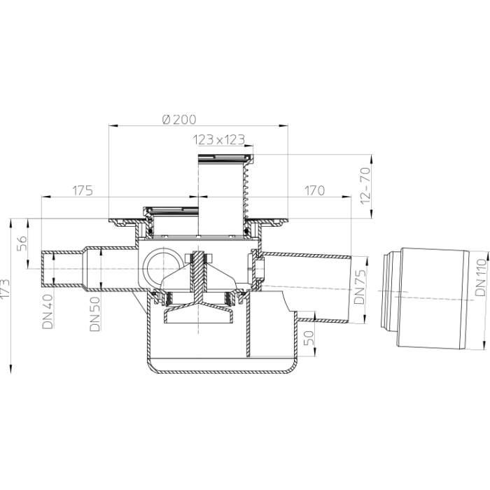 HL70 Трап для внутрішніх приміщень_cхемаа