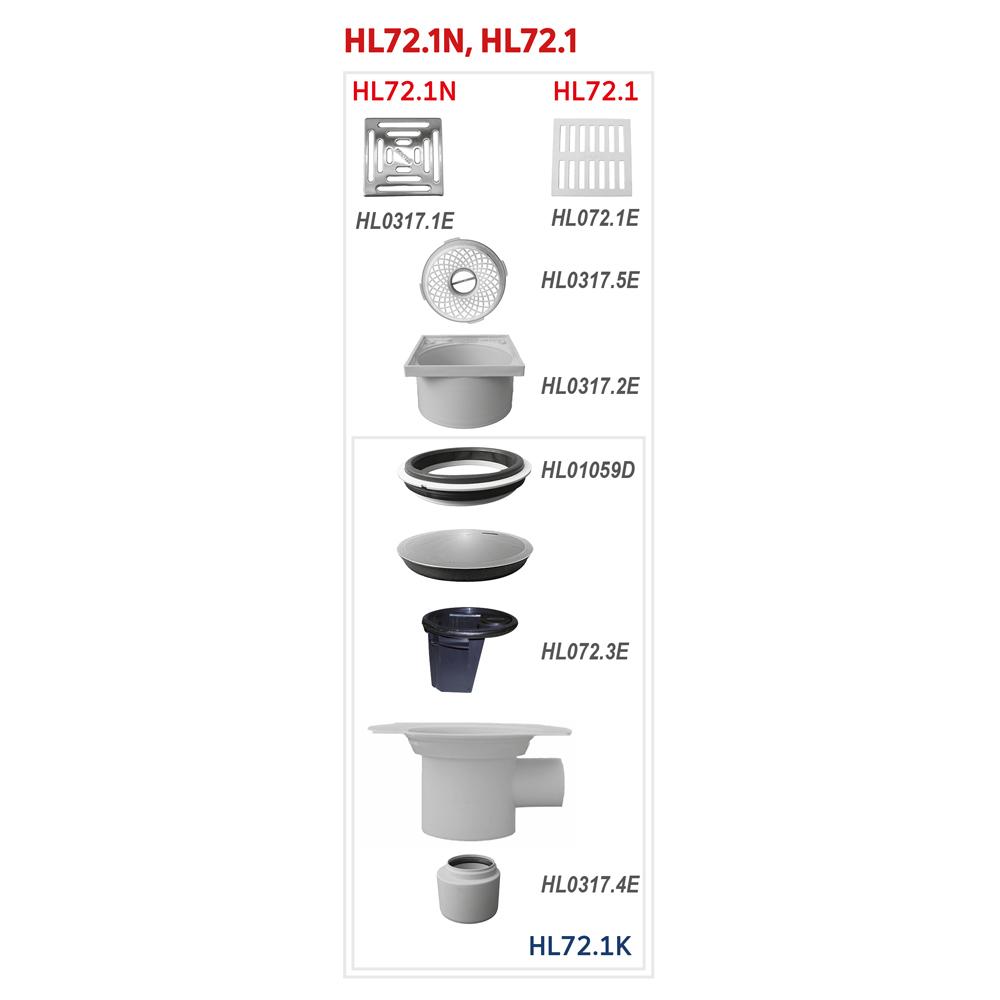 HL72.1 Трап для внутрішніх приміщень DN75 / 110