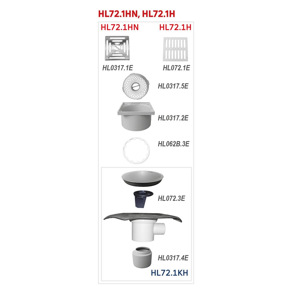HL72.1H Трап для внутрішніх приміщень DN75 / 110__