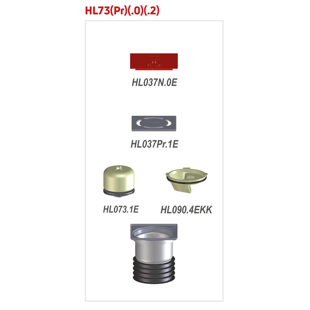 HL73.0 Трап для балконів і терас_