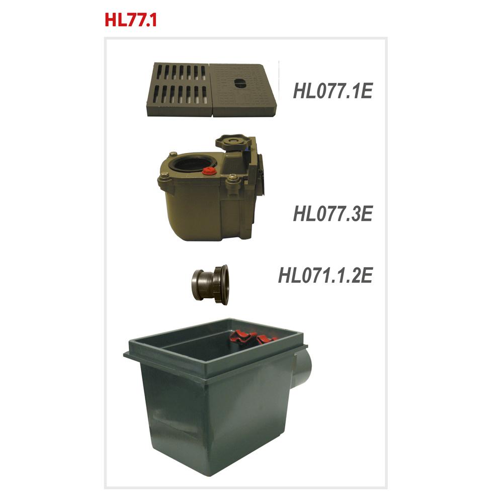 HL77.1 Трап для підвалів DN110__