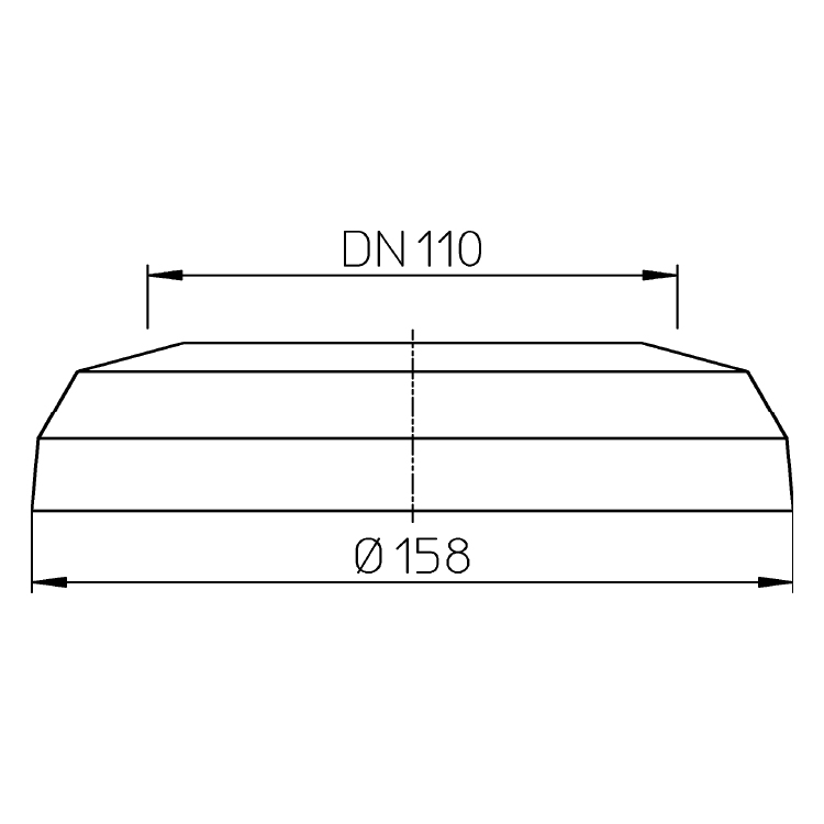 HL7EL.WE Декоративна розетка для унітазного патрубка DN110_схема