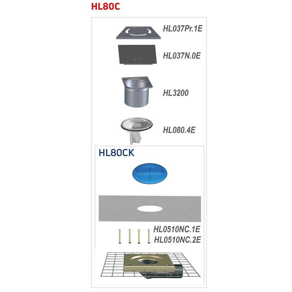 HL80C Трап для балконів і терас DN50 / 75_