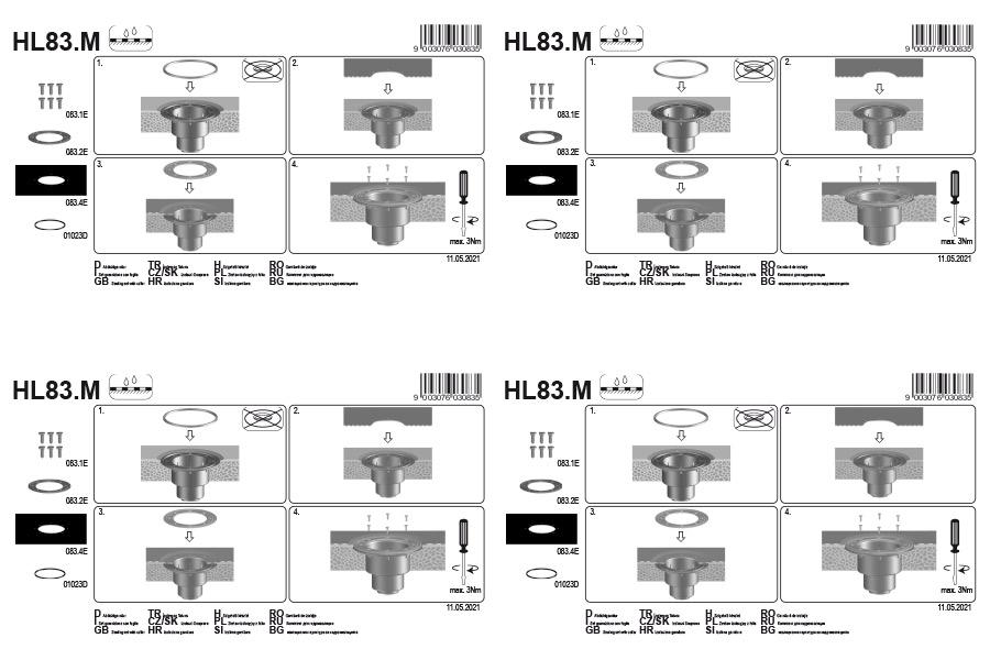 HL83.M Комплект для гідроізоляції_монтаж