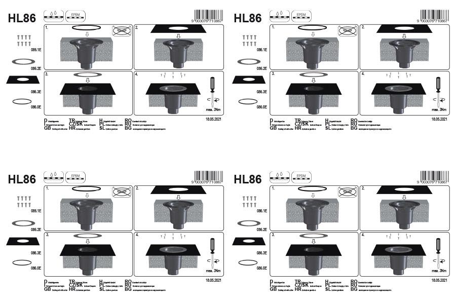 HL86 Ущільнюючий комплект