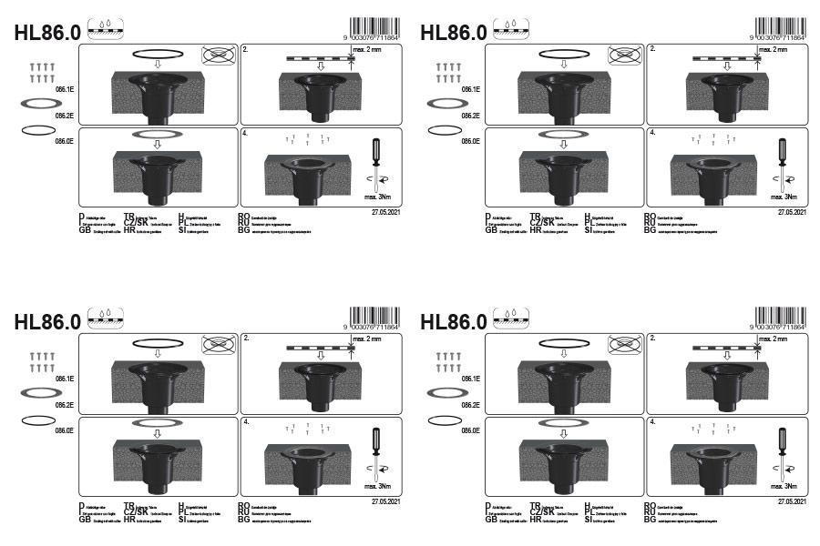 HL86.0 Ущільнюючий комплект_монтаж
