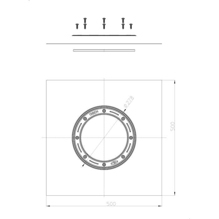 HL86.M Комплект для гідроізоляції_схема