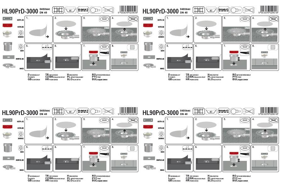HL90PrD-3000 Трап_монтаж