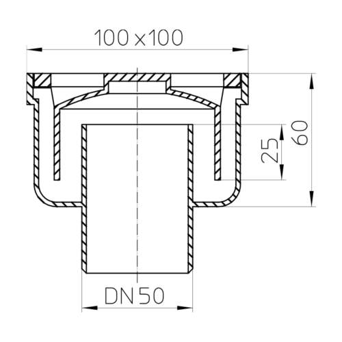 HL93 Трап DN50_cхема
