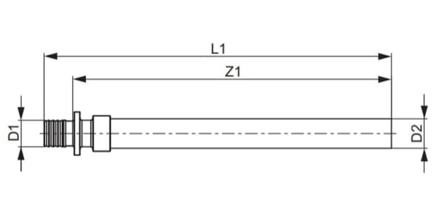 Перехідник з мідної трубки TECEflex схема