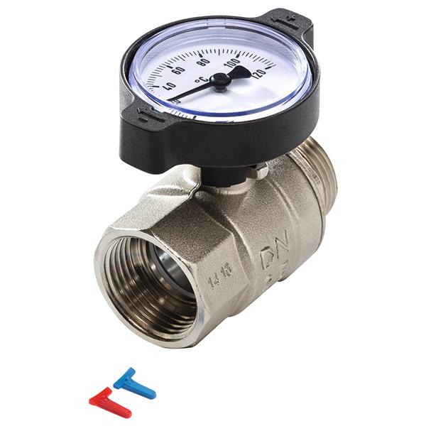 Кульовий кран з термометром TECEfloor