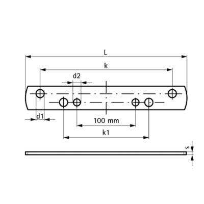 Walraven BIS dB FiX комплект для опор - розміри