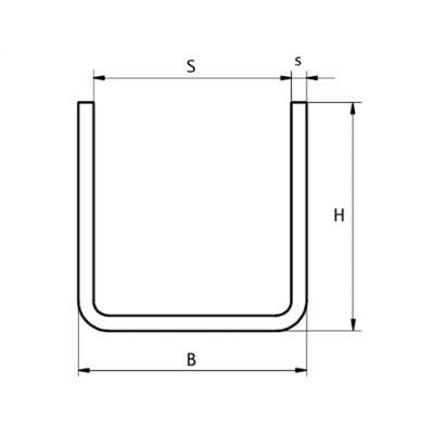 Walraven BIS U-Профіль монтажний - розміри