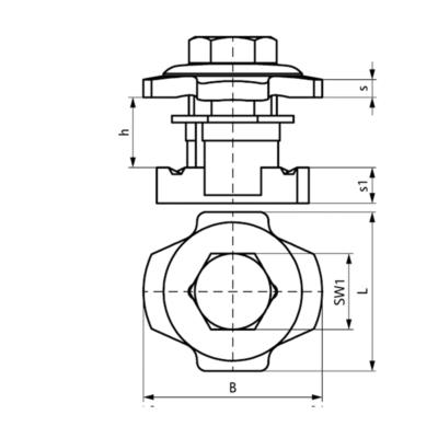 Болт Walraven BIS PushStrut - розміри