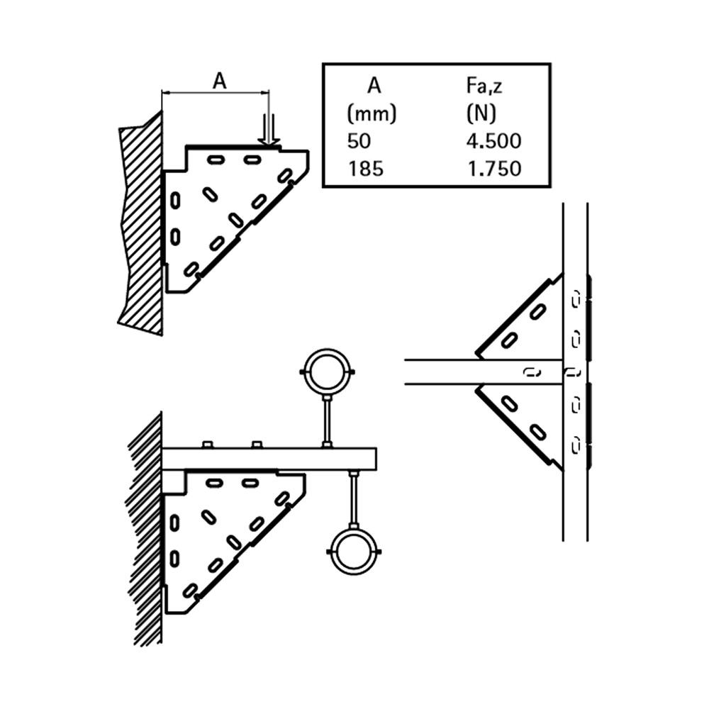 Тригранний діагональний з'єднувач Walraven BIS - монтаж