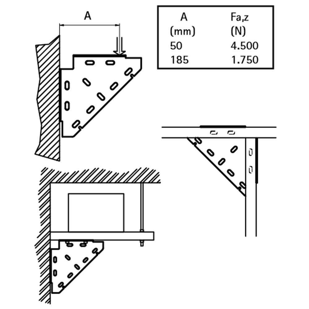 Walraven BIS Тригранний діагональний з'єднувач - монтаж