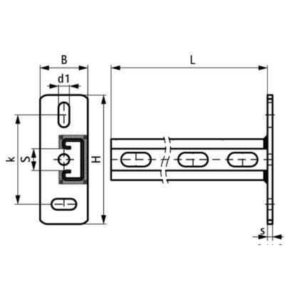 Консоль стінова вертикальна Walraven BIS RapidStrut® - розміри
