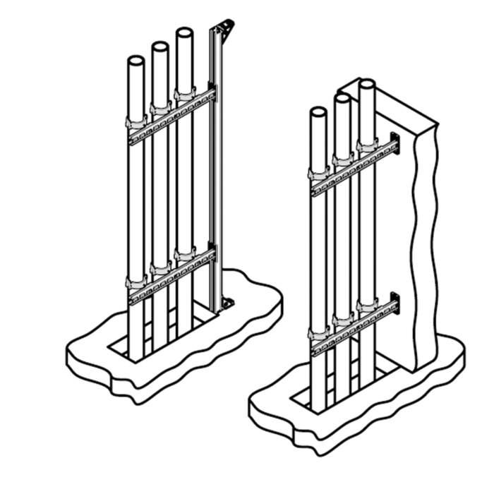 Консоль стінова вертикальна Walraven BIS RapidStrut® - монтаж