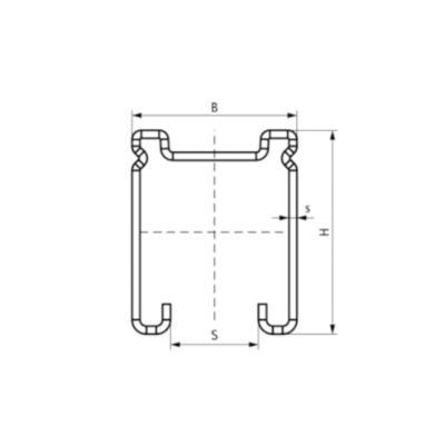 Монтажний профіль DS 5 Strut Walraven - розміри