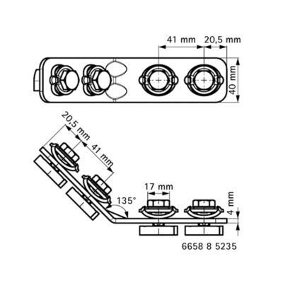 Walraven BIS RapidStrut® Кутовик 135° G2 (BUP1000) - розміри