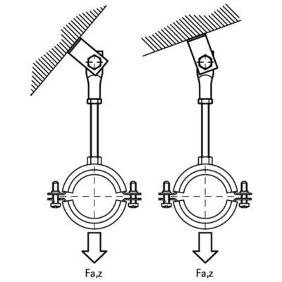 Підвіска для похилої покрівлі Walraven - розміри