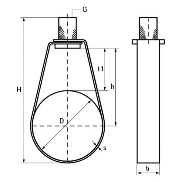 BIS Спринклерний хомут-петля TA41 схема