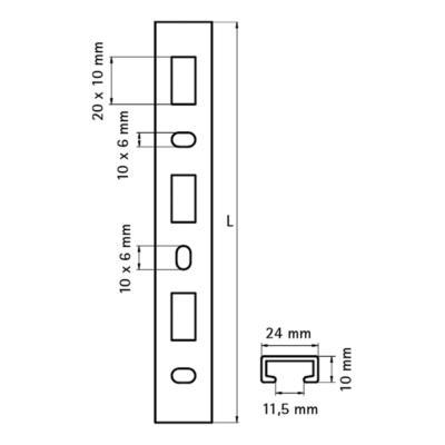 Walraven BIS starQuick® Профіль ПВХ - розміри